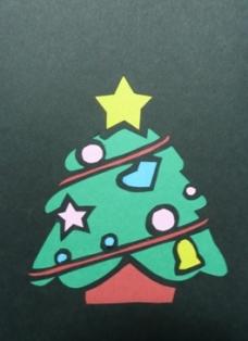 切り絵・クリスマスカード1060445.jpg