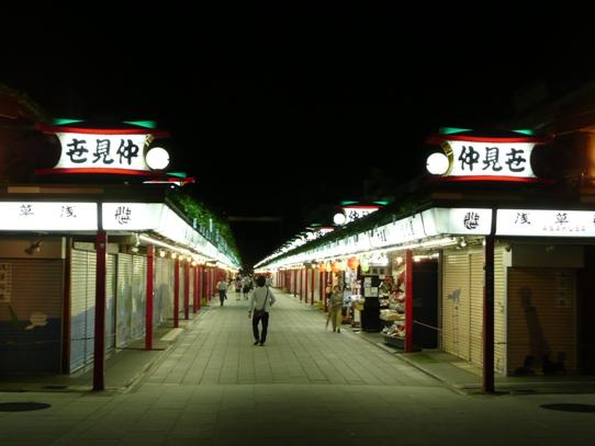 浅草の夜・仲見世1060329.jpg