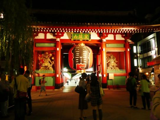 浅草の夜・雷門1060313.jpg