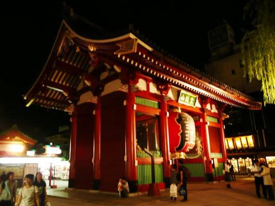 浅草の夜・雷門1060326.jpg